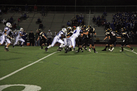 During the Homecoming football game on Oct. 5, the Bears played Hilliard Davidson at the Marv. UA lost the game 14-42. The UAHS football team has lost several key players due to concussions. Photo by Maria Berger