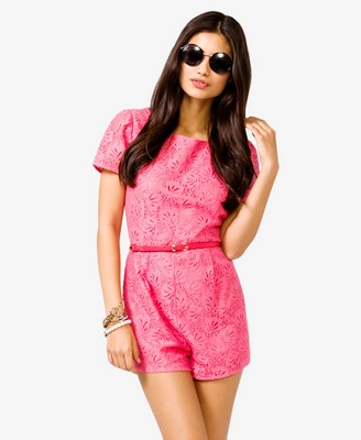 forever21 (.com) belted lace romper